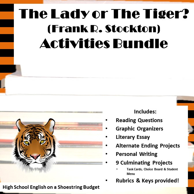 "the lady or the tiger essay prompt The lady, or the tiger essay assignment at the end of the story, ""the lady, or the tiger"" by frank r stockton."